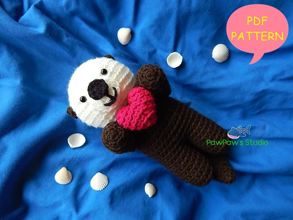 Meet Sammy the Sea Otter. He's a playful... - Amigurumi Patterns ... | 450x600
