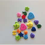 20 Assorted  Multi Coloured Novelty Buttons