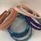 Apricot Fabric Hard Headband and Blue and Purple Ruffle Headbands - Bag of 16