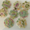 Floral Felt and Fabric Flowers with Button Centre - Bag of 8 6cm each