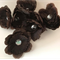 Chocolate Flowers with Sequin Centre - Bag of 8 10cm each