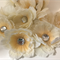 Cream/Ivory Flowers with Sequin Centre - Bag of 11 10cm each