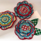 Felt and Fabric Large Flowers - Bag of 3 12cm