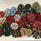Christmas Fabric YoYos - Bag of 54 4cm each