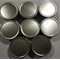 Round Craft Tin Containers x 8