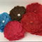 Assorted Flowers with Sequin Centre - Bag of 7 12 cm each