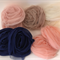 Assorted Coloured Rolled Tulle Flowers - Bag of 10 10cm