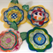 Felt and Fabric Large Flowers - Bag of 4 14cm each