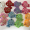 Assorted Coloured Felt Puffer Fish with Sequin Detailing - Bag of 16 5cm each