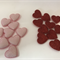 Assorted Pink and Red Felt Glitter Puffy Hearts - Bag of 19 4cm each