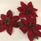 Velvet Christmas Flowers - Bag of 3