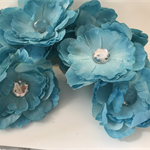 Blue Flowers with Sequin Centre - Bag of 10 10cm each
