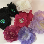Assorted Flowers with Sequin Centres and Detailing- Bag of 12