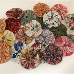 Vintage Fabric YoYos - Bag of 21 5cm each