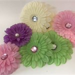 Assorted Gerberas with Sequin Centre - Bag of 8