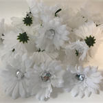 White Daisies with Sequin Centre - Bag of 24 7cm each