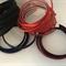 Red/Orange, Maroon, Navy and Black Silk Medium Thick Headbands - Bag of 27