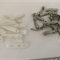 French Barette Clips - Bag of 32 (14 white and 18 silver)