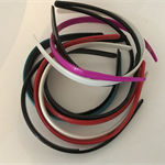 Assorted Aqua, Pink, Red, White and Black Plastic Heabands - Bag of 10