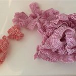 Pink and Red Stretch Gingham Trim - 5m roll