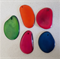 5 mixed coloured Tagua nut bead slices