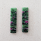A pair of ruby zoisite bead pendants
