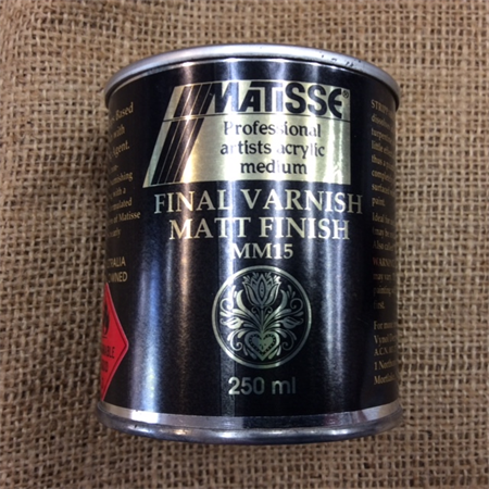 Matisse Final Varnish Matt Finish (Mineral Turps Based)