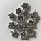 10 Charm Pendants Flower Antique Silver