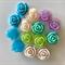14 Resin Vintage Rose Cabochons