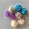 8 Resin Vintage Rose Cabochons