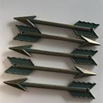 5 Charm Pendants Arrows Antique Bronze