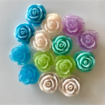 14 Resin Vintage Rose Cabochons