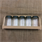 Wooden Spice Rack with 5 Jars