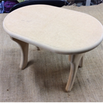 Small Oval Wooden Stool