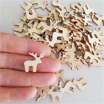 10 x wooden Christmas reindeer shapes