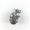 Genie bottle pendant - silver plated metal