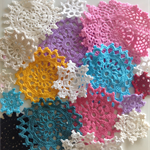 20 Assorted Coloured & sized Doilies