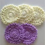 5 Doilies - 2 Colours
