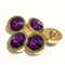 Purple buttons, vintage, retro buttons, buttons, purple glass, gold buttons