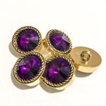 Purple buttons, vintage, retro buttons, buttons, purple glass, gold buttons
