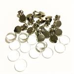 Clip on earrings, cabochon earrings, clipons, glass cabochons, cabochon earrings