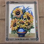 Tapestry SEG de Paris - Le Vase Bleu aux Soleils