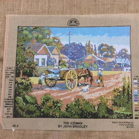 Tapestry - DMC - The Iceman by John Bradley
