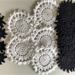 20 Assorted Sized Doilies -2 Colours