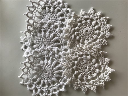 5 Gorgeous Antiqued Doilies Vintage Doily - 2 Styles