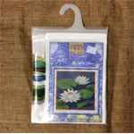 Pinn Cross Stitch Kit - White Lotus