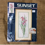 Sunset No Count Cross Stitch Kit - Iris Trio