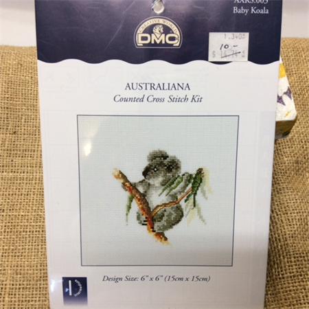 DMC Counted Cross Stitch Kit - Australiana (koala)