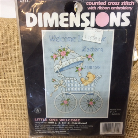 Dimension Counted Cross Stitch Kit -Little One Welcome