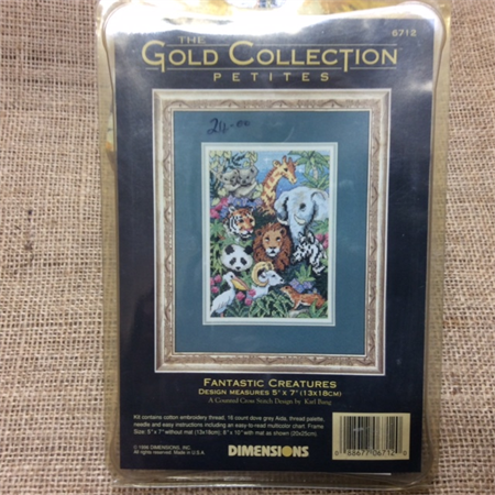 Counted Cross Stitch Kit - Fantastic Creatures
